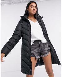 G-Star RAW Whistler Hooded Long Line Puffer Coat - Black