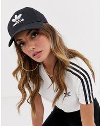 adidas Originals Черная Кепка С Логотипом-трилистником -черный