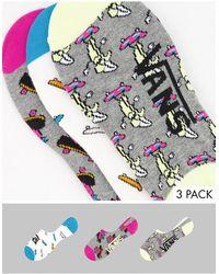 Vans Набор Из 3 Пар Многоцветных Носков С Разными Принтами Skate Fruit Canoodle-многоцветный