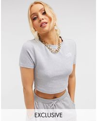 The North Face Cropped T-shirt - Grey