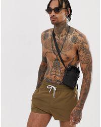 ASOS Swim Shorts - Brown