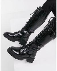 ALDO Черные Массивные Ботинки На Шнуровке Sadiya-черный