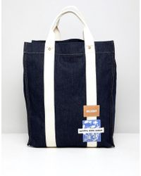 Weekday Limited Edition Wisconsin Tote Bag In Denim - Blue