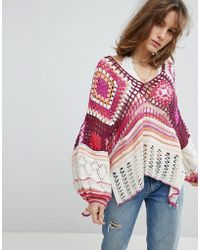 Free People - Call Me Crochet Jumper - Lyst