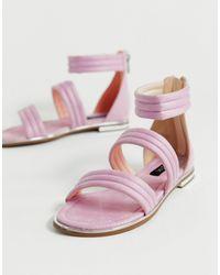 Blink Strap Flat Sandals-pink