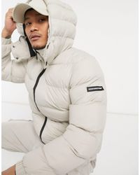 Good For Nothing Puffer Jacket With Hood - Multicolour