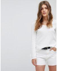 Esprit - Lightweight Knitted Jumper With Frill Cuff - Lyst