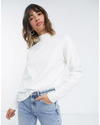 Fashion Union Relaxed Sweater - White