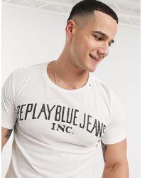 Replay T-shirt con logo - Bianco