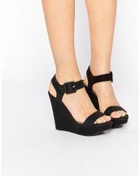 Call It Spring Patzun Wedge Sandals - Black