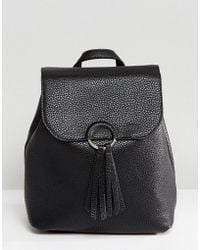 Pieces - Backpack With Tassle Detail - Lyst
