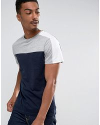 D-Struct - Cut And Sew Panel T-shirt - Lyst