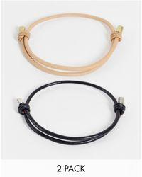 ASOS Set Van 2 Leren Armbanden - Meerkleurig