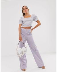 UNIQUE21 Wide Leg Trousers - Purple