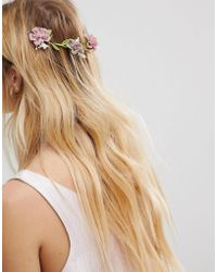 ASOS - Occasion Floral Vine Back Hair Clip - Lyst
