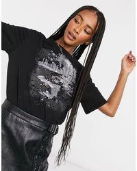Vero Moda Rock - T-shirt - Zwart