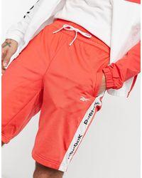 Reebok Te Linear Logo Short - Red