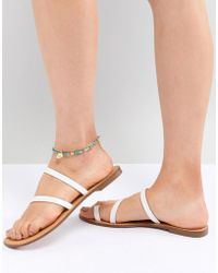 ASOS - Design Multirow Anklet In Beaded Design With Elephant - Lyst