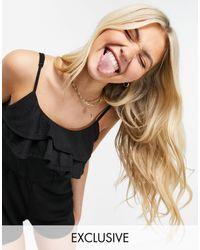 Pimkie Frill Playsuit - Black