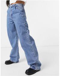 Pull&Bear – Baggy-Jeans im 90er-Stil - Blau