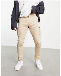 Jack & Jones - Premium - Pantalon cargo skinny stretch - Beige - Lyst