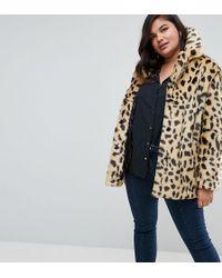 ASOS - Faux Fur Coat In Leopard - Lyst