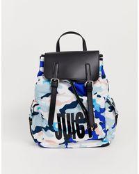Juicy Couture Sac à dos avec motif camouflage - Bleu