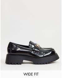 ASOS Wide Fit Monster Chunky Loafers - Black