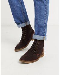 Barbour - Темно-коричневые Замшевые Ботинки На Шнуровке -коричневый - Lyst