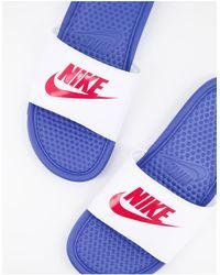 Nike - Шлепанцы Benassi-многоцветный - Lyst