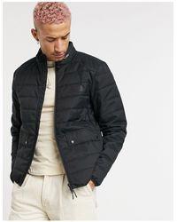 Barbour Черная Стеганая Куртка Drive-черный Цвет