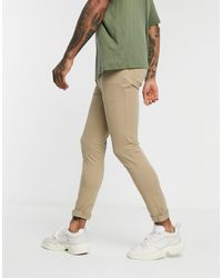 TOPMAN Spray On Chinos - Natural