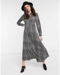 Vero Moda Maxi Shirt Dress - Gray