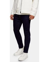 TOPMAN Stretch Tapered Jeans - Blue