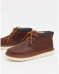 UGG Коричневые Ботинки В Стиле Милитари Neumel-коричневый