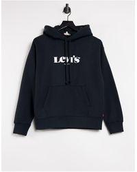 Levi's - Худи Черного Цвета С Логотипом -черный Цвет - Lyst