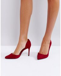 Mango - Red Pointed Court Shoe - Lyst