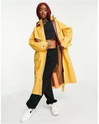 Nike Желтый Тканый Тренч -коричневый Цвет