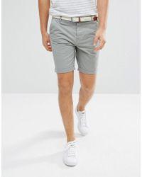 Threadbare | Belted Chino Shorts | Lyst