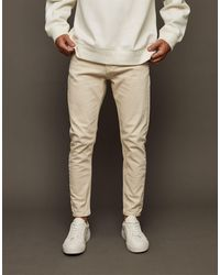 TOPMAN Stretch Tapered Jeans - Natural