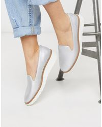 Call It Spring Bouvet Chunky Sole Slip On Shoes - Metallic
