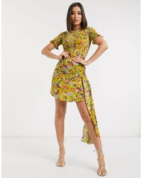 Never Fully Dressed Millie Floral Co-ord Skirt - Yellow