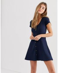 Hollister - Ribbed Mini Dress - Lyst