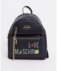 Love Moschino - Черный Рюкзак С Логотипом - Lyst