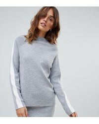 Micha Lounge - High Neck Sweater With Side Stripe Two-piece - Lyst