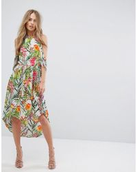 Adelyn Rae - Lianna Hi-low Printed Cold Shoulder Dress - Lyst
