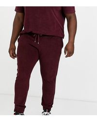 ASOS Plus Co-ord Skinny joggers - Red