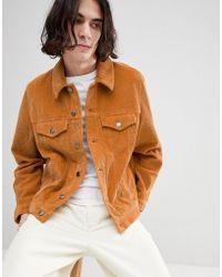 ASOS DESIGN - Cord Western Jacket In Mustard - Lyst