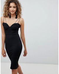 AX Paris - Strappy Detail Pencil Dress - Lyst