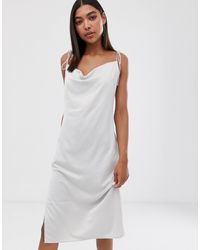 Weekday Cami Dress With Cowl Neck - Natural